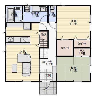 3階建て二世帯住宅