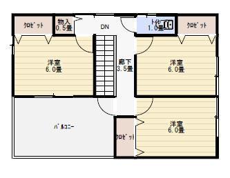 3階建て二世帯住宅3f
