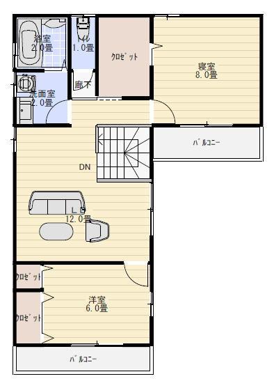 二世帯住宅 2階建て