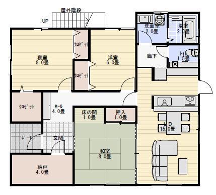 二世帯住宅間取り集