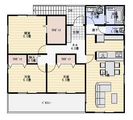 二世帯住宅間取り 50坪