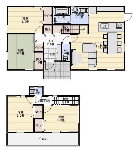 二世帯住宅 間取り プラン 30坪