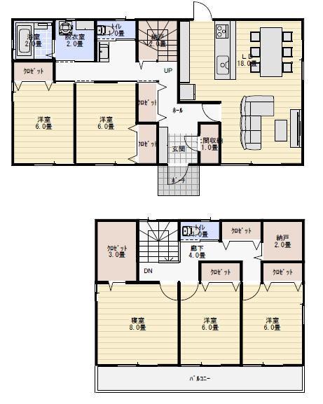 二世帯住宅 間取り 40坪