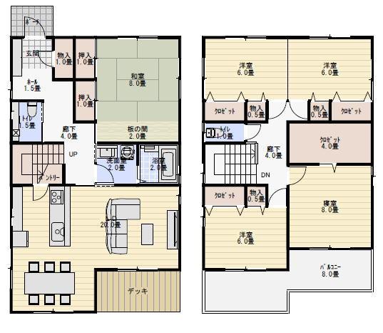 二世帯住宅 間取り プラン 45坪