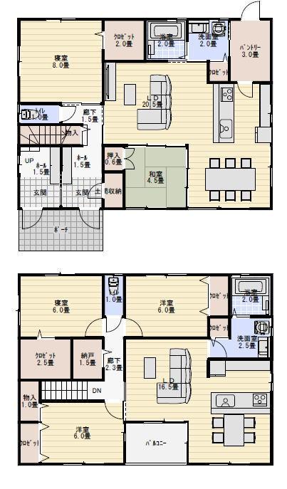 二世帯住宅 間取り プラン 完全分離